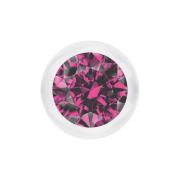 Kugel transparent mit Kristall pink