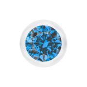 Kugel transparent mit Kristall hellblau