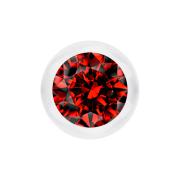 Kugel transparent mit Kristall rot