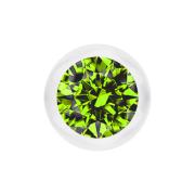Kugel transparent mit Kristall hellgrün