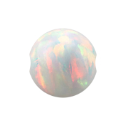 Ball Closure Kugel Opal weiss