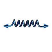 Barbell dunkelblau Spule mit zwei Cones
