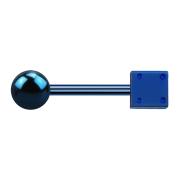 Barbell dunkelblau mit Kugel und Würfel