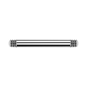 Barbell-Stab silber