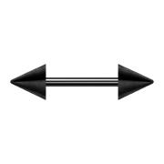 Micro Barbell schwarz mit zwei Cones