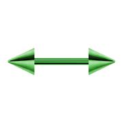Micro Barbell grün mit zwei Cones