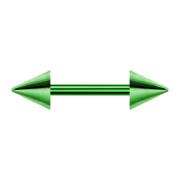Barbell grün mit zwei Cones