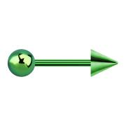 Micro Barbell grün mit Kugel und Cone