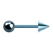 Micro Barbell hellblau mit Kugel und Cone
