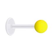 Micro Labret transparent mit Kugel Neon gelb
