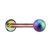 Micro Labret farbig mit Kugel gesprenkelt