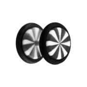 Fake Plug Twistet schwarz