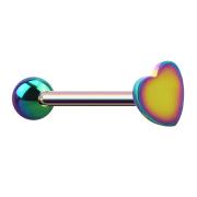 Barbell farbig mit Kugel und Herz