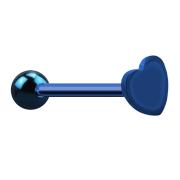 Barbell dunkelblau mit Kugel und Herz