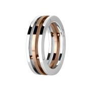 Ring mit drei verbunden ringen rosegold