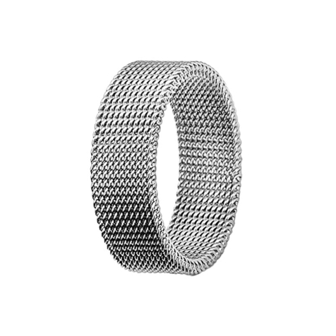 Ring silber flexibles Mesh