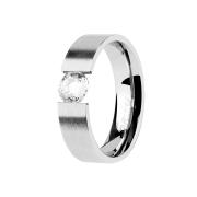 Ring silber mit geklemmten Kristall