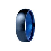 Ring dunkelblau gebürstet