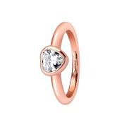 Ring rosegold mit Herzkristall