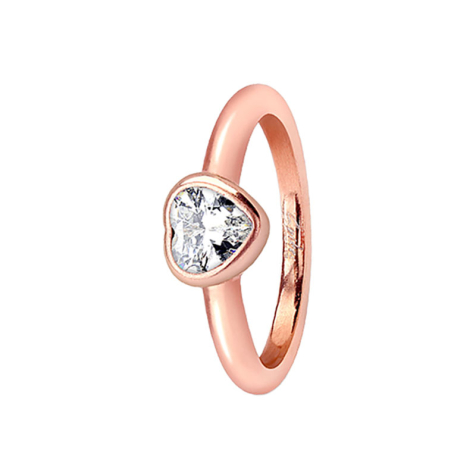 Ring rosegold mit Herzkristall