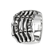 Ring silber Skelett Hand