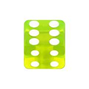 Würfel grün transparent