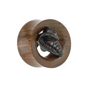 Flared Tunnel Schlangenholz mit Cobra aus Ebenholz