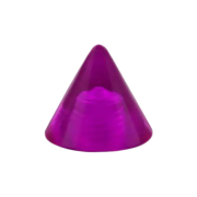 Cone violett transparent