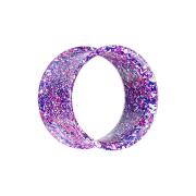Flared Tunnel violett mit farbspritzer