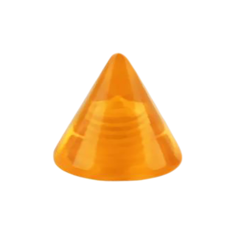 Cone orange transparent
