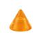 Cone orange transparent
