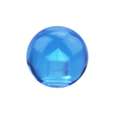 Kugel hellblau transparent