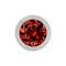 Kugel silber mit Kristall rot