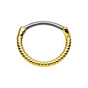 Septum Ring seil vergoldet