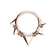 Septum Ring fünf dreiecke rosegold
