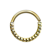 Septum Ring gerillt 14k vergoldet