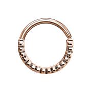 Septum Ring gerillt rosegold
