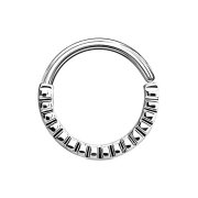 Septum Ring gerillt silber