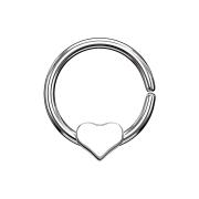 Micro Piercing Ring silber mit Herz