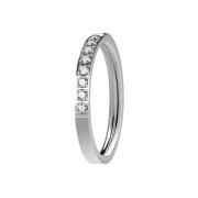 Ring silber mit acht Kristallen