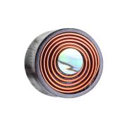 Flared Plug aus Sonoholz Wirbel aus Kupferdraht mit Perlmutt-Einsatz