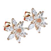 Ohrstecker rosegold Kristallblume