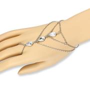 Armkette silber mit drei Tropfen
