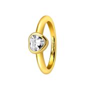 Ring vergoldet mit Herzkristall
