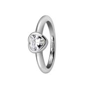 Ring silber mit Herzkristall