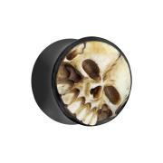 Flared Plug aus Wasserbüffelhorn 3D Schädel aus...