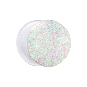 Flared Plug transparent mit Glitter multicolor