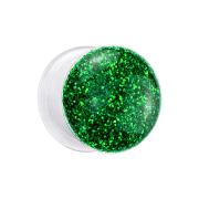 Flared Plug transparent mit Glitter grün