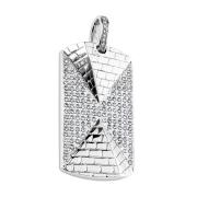 Anhänger silber 3D Pyramide mit Kristall