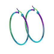 Ohrring rund farbig